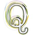 Organic Font letter q vector image vector image