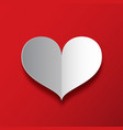 paper heart on red background love symbol vector image vector image