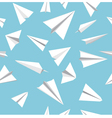 paper plane pattern vector image vector image