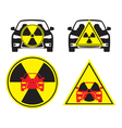 radioactive car vector image