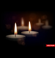 realistic round wax tealight candles vector image