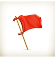 Red flag icon vector image vector image
