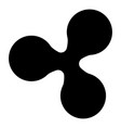 ripple icon black color flat style simple image vector image vector image