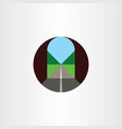 road inside tunnel flat icon logo vector image