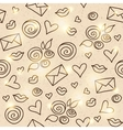 romantic pattern eps 10 vector image vector image