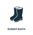 rubber boots icon symbol creative sign from vector image vector image