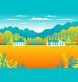 rural or urban landscape outdoor city or village vector image