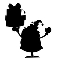 Santa Claus cartoon silhouette vector image vector image