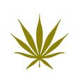 sativa cannabis logo icon vector image vector image