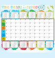 School timetable and calendar 2016 vector image vector image