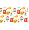 seamless spring pattern with birds and vector image vector image