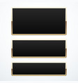 set of gold banners vector image vector image
