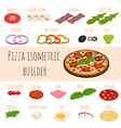 set of isometric food icons Ingredients for pizza vector image vector image