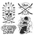 set of skateboarding emblems vector image