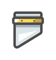 sharp guillotine blade icon cartoon vector image