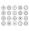 sniper aim pointer target navigation vector image