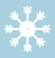 snowflake icon white on blue background vector image vector image
