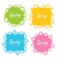 spring frames vector image vector image