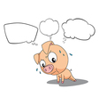 The blank callouts and the pig vector image vector image