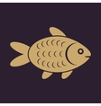 The fish icon Fish symbol Flat vector image vector image