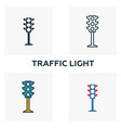 traffic light outline icon thin style design from vector image