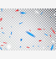 usa celebration red and blue confetti isolated vector image