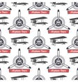 Vintage airplane tour pattern Biplane propellers vector image vector image