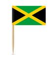 jamaica flag toothpick 10eps vector image