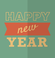 Happy New Year Poster or Card Hipster style vector image