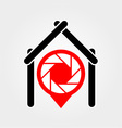 A placement with aperture sign inside a house- A p vector image vector image