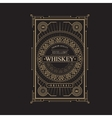 antique frame vintage border whiskey label retro vector image vector image