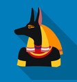 anubis icon in flat style isolated on white vector image vector image