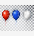 balloons in national colors american flag vector image