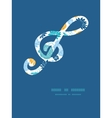 blue and yellow flowersilhouettes gclef musical vector image