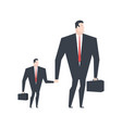 businessman and son business family boss dad and vector image vector image