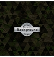 Camouflage military triangle pattern background vector image vector image