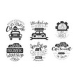 car wash best in town premium quality retro labels vector image