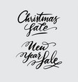 christmas and new year sale handwriting calligraph vector image vector image