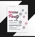 christmas party festival flyer design vector image vector image