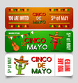 Cinco de mayo poster design template with