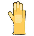 cleaning gloves design vector image