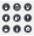 Cocktail beer icons Coffee and tea drinks vector image