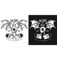 colour emblem design with skate vector image vector image