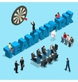 Concept for business people teamwork human vector image vector image