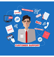 Customer Service Call Center Man Assistant vector image vector image