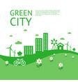 digital green city ecology vector image