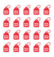 discount labels set sale tag offer price vector image