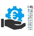 Euro Development Service Hand Icon With Free Bonus vector image vector image