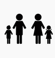 family black simple icon design silhouette vector image