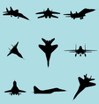 fighter plane vector image vector image